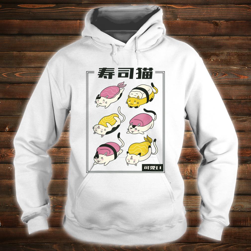 Kawaii Katze Sushi lustiges Katzenbesitzer Geschenk Idee Shirt hoodie