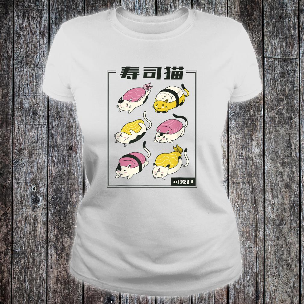 Kawaii Katze Sushi lustiges Katzenbesitzer Geschenk Idee Shirt ladies tee