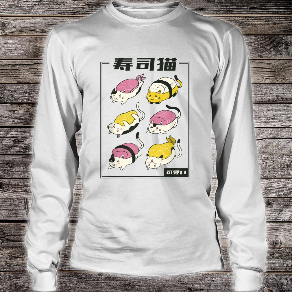 Kawaii Katze Sushi lustiges Katzenbesitzer Geschenk Idee Shirt long sleeved