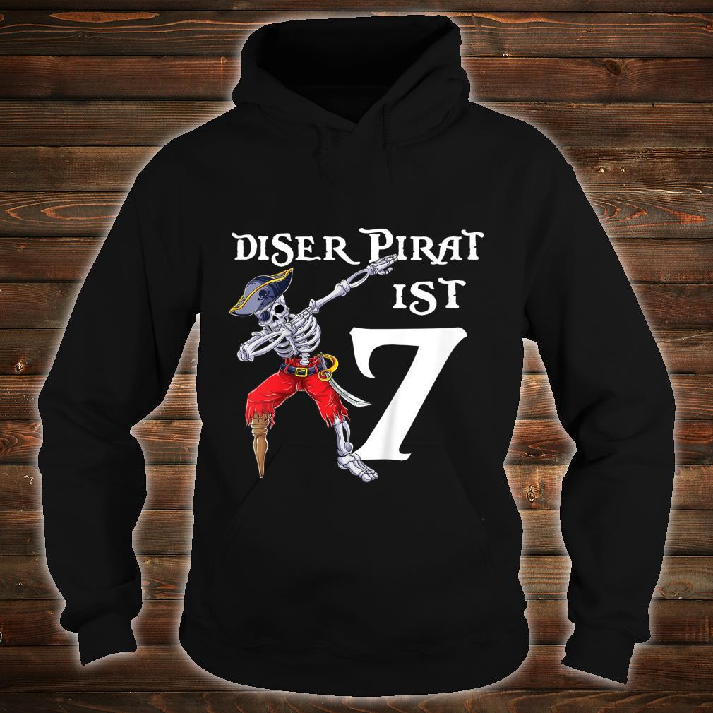 Kinder 7 Geburtstag Jahre Junge Dabbing Pirat Piratenkostüm Piraten Shirt hoodie