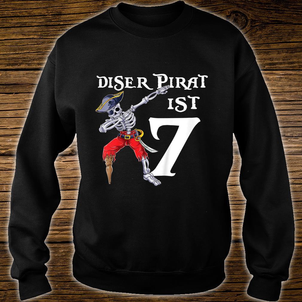 Kinder 7 Geburtstag Jahre Junge Dabbing Pirat Piratenkostüm Piraten Shirt sweater