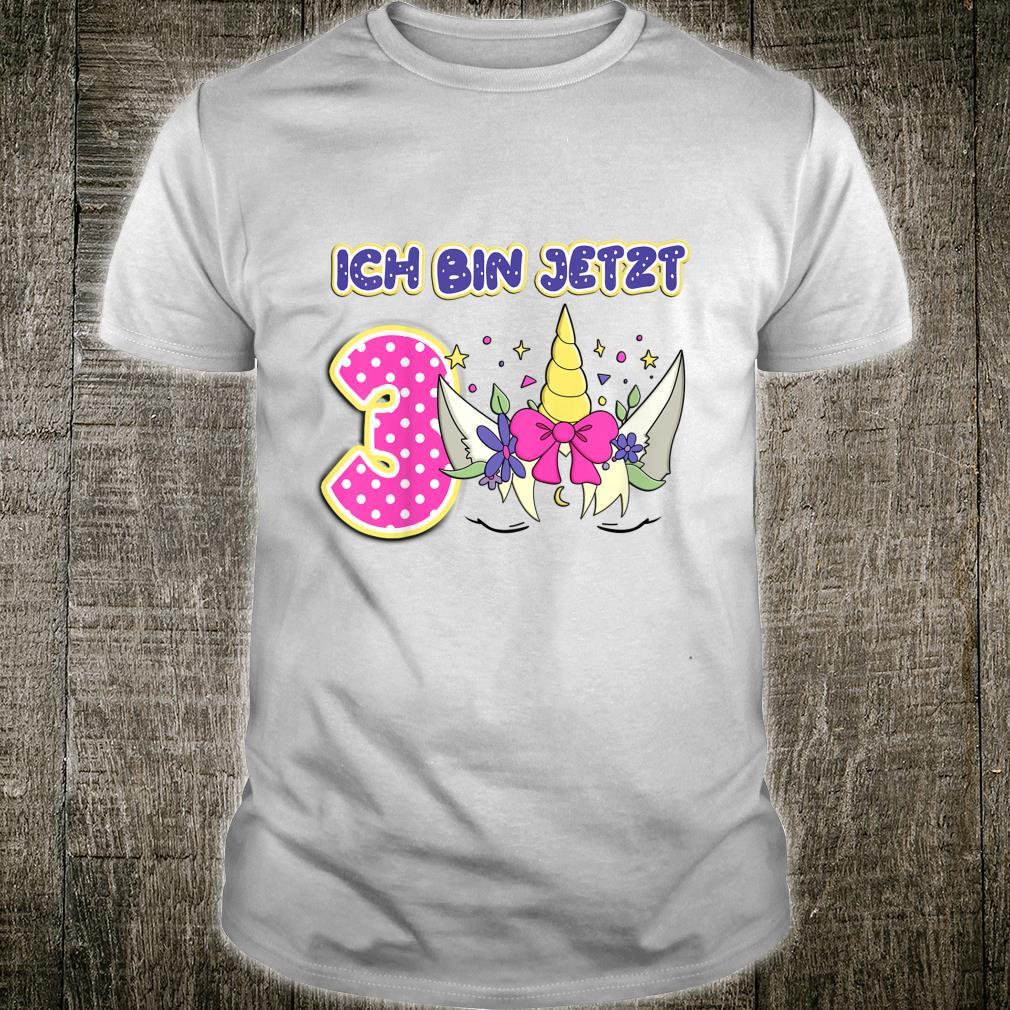 Kinder Ich Bin Jetzt 3 Erster Geburtstag Endlich 3 Jahr Alt Einhorn Shirt