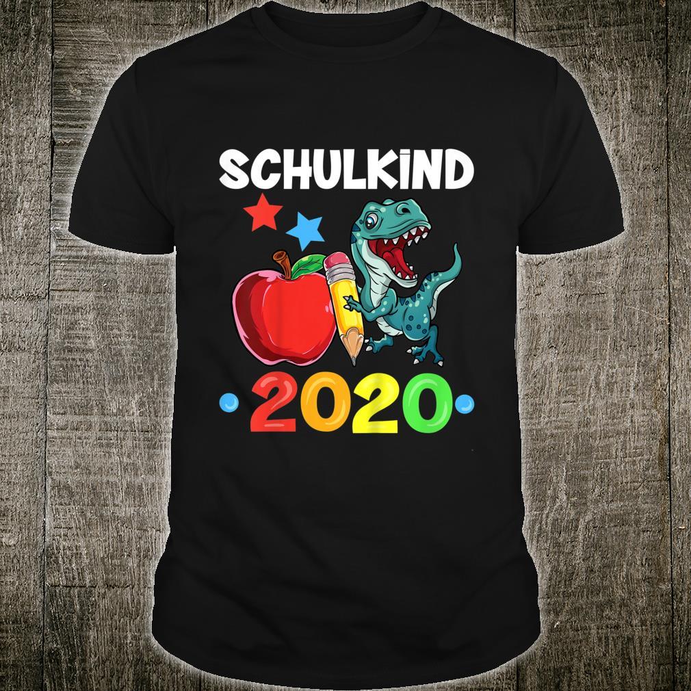 Kinder Schulkind 2020 Dino TRex Jungen Dinosaurier Einschulung Shirt