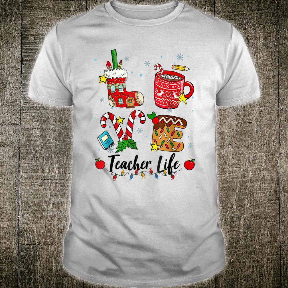LOVE Teacher Christmas Oufits Teacher Shirt