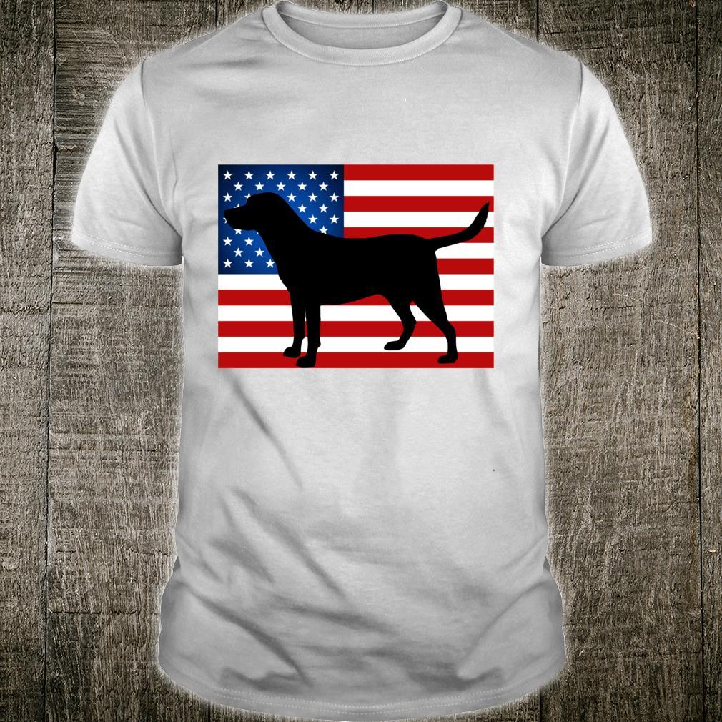 Labrador Retriever Patriotic USA Flag I Love Black Lab Shirt