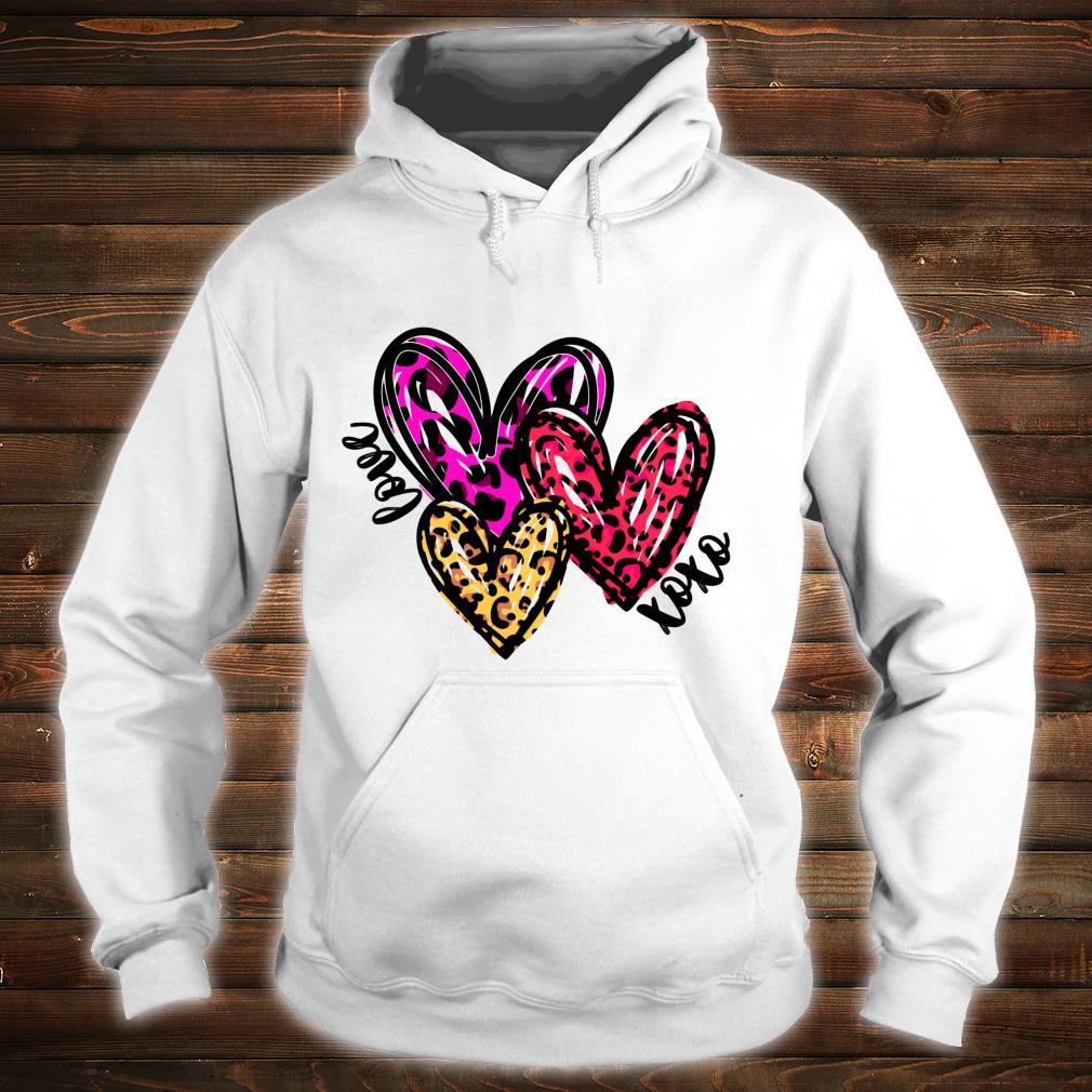 Leopard Hearts Valentine's Day Shirt hoodie
