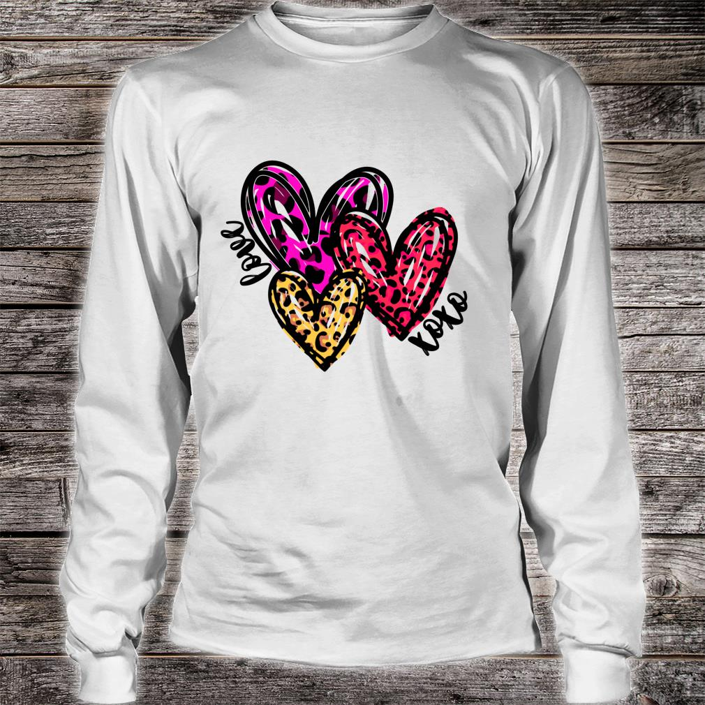 Leopard Hearts Valentine's Day Shirt long sleeved