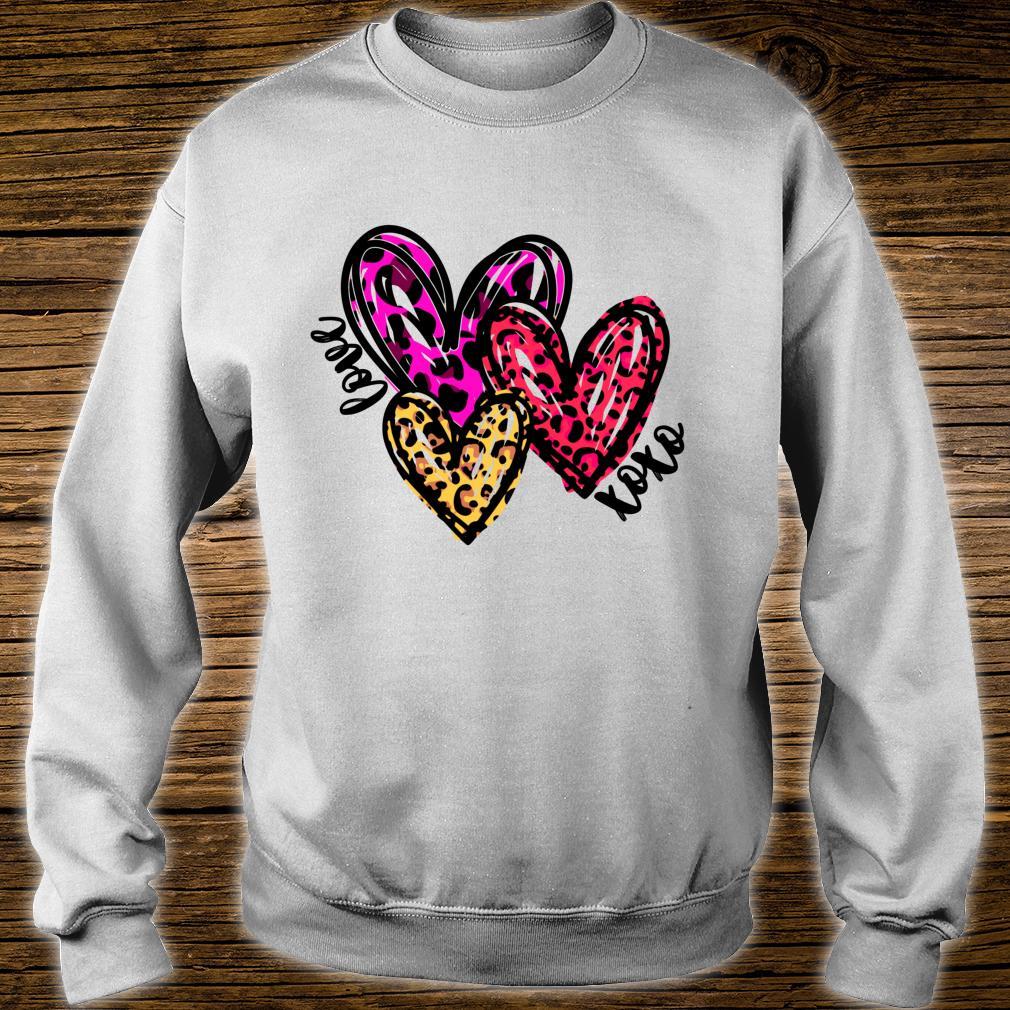 Leopard Hearts Valentine's Day Shirt sweater