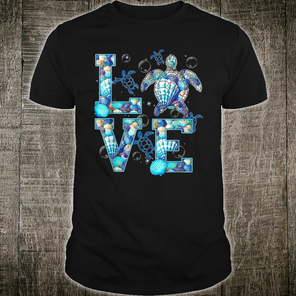 Love Turtle Ocean Design Sea Turtle Love Shell Pattern Shirt
