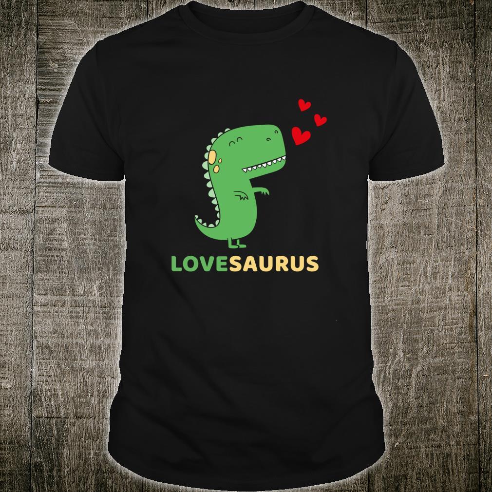 Lovesaurus Dinosaurier Liebe Outfit Geschenk TRex Shirt