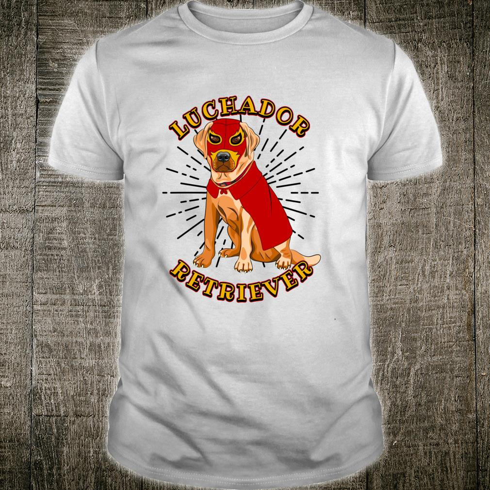 Luchador Retriever Wears Mexican Wrestling Mask Shirt