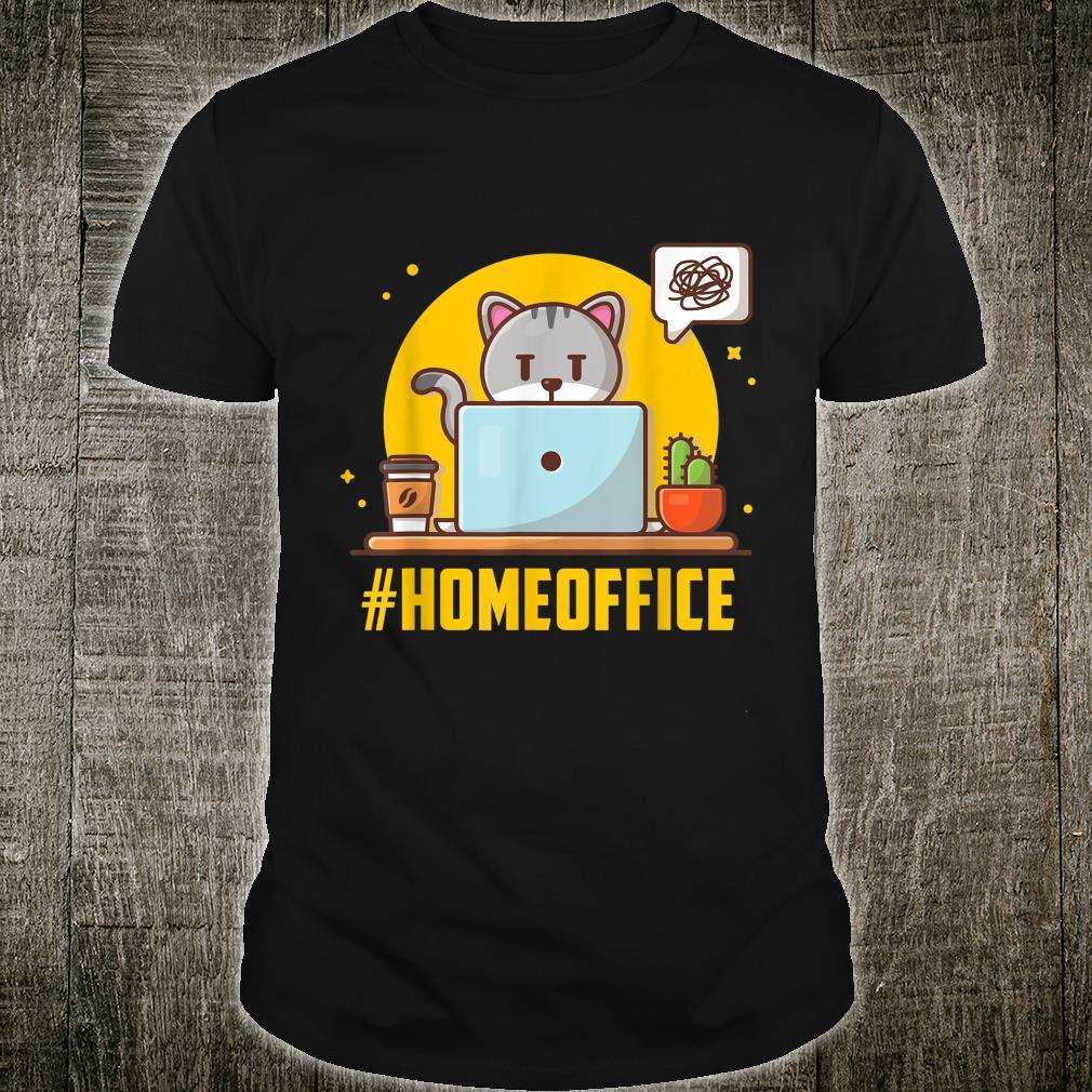 Lustige Arbeit Von Daheim Katzenbesitzer Geschenk Kurzarbeit Shirt