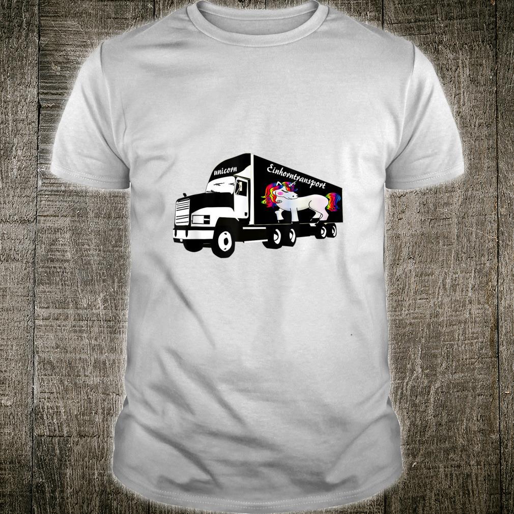 Lustiges LKW mit Einhorn Shirt
