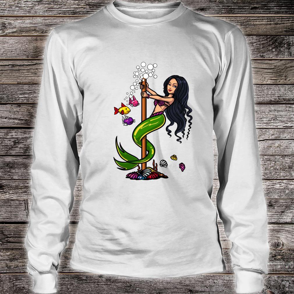 Magical Mermaid Pole Dancing Ocean Dance Girls Shirt long sleeved