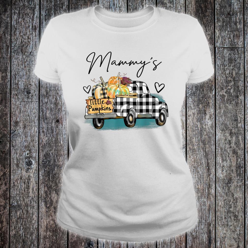 Mammy's Pumpkin Patch Truck Art Halloween Shirt ladies tee