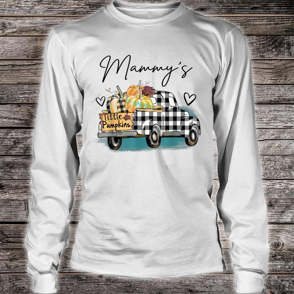 Mammy's Pumpkin Patch Truck Art Halloween Shirt long sleeved