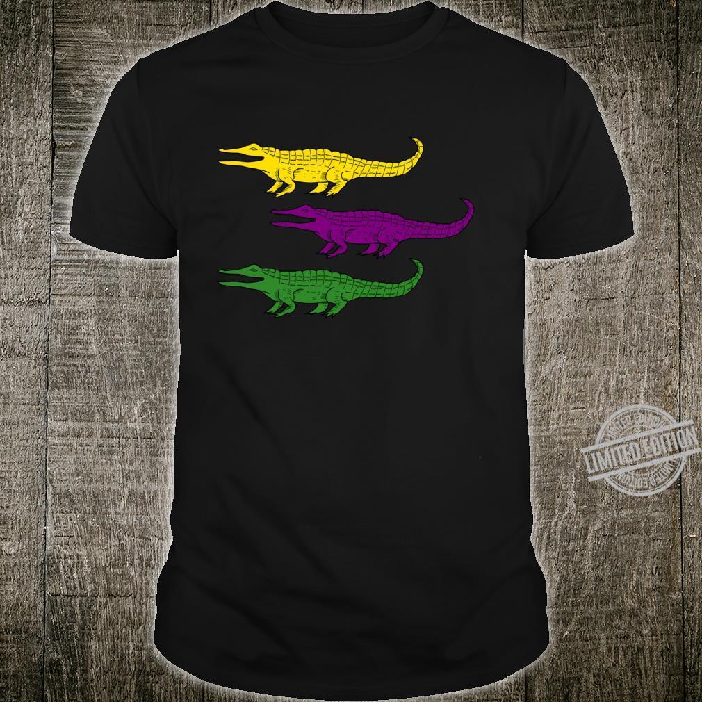 Mardi Gras Alligator Gators Crocodile Festival Shirt