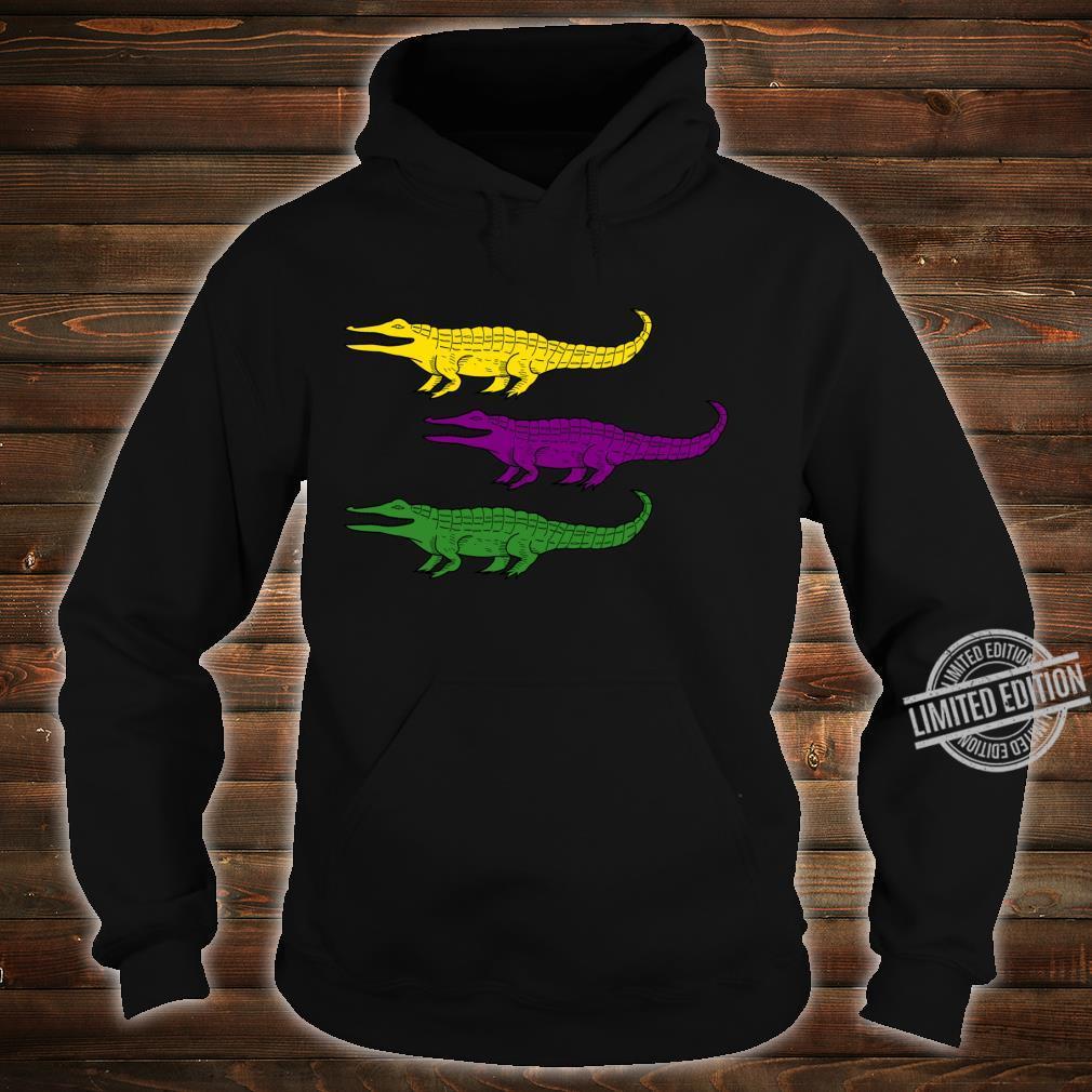 Mardi Gras Alligator Gators Crocodile Festival Shirt hoodie