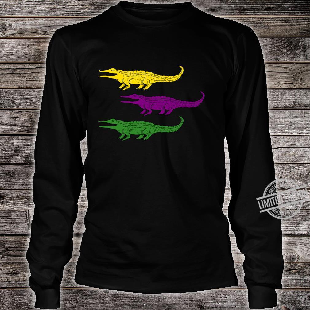 Mardi Gras Alligator Gators Crocodile Festival Shirt long sleeved