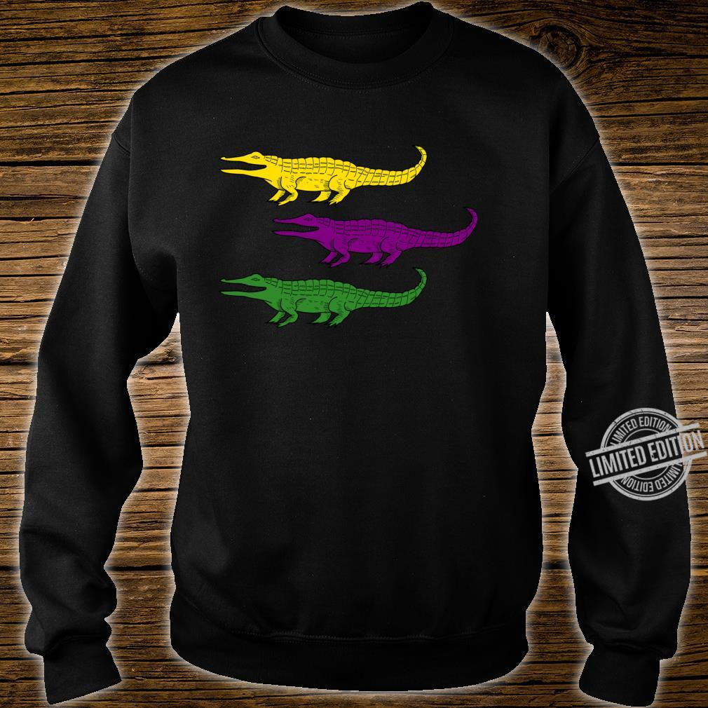 Mardi Gras Alligator Gators Crocodile Festival Shirt sweater
