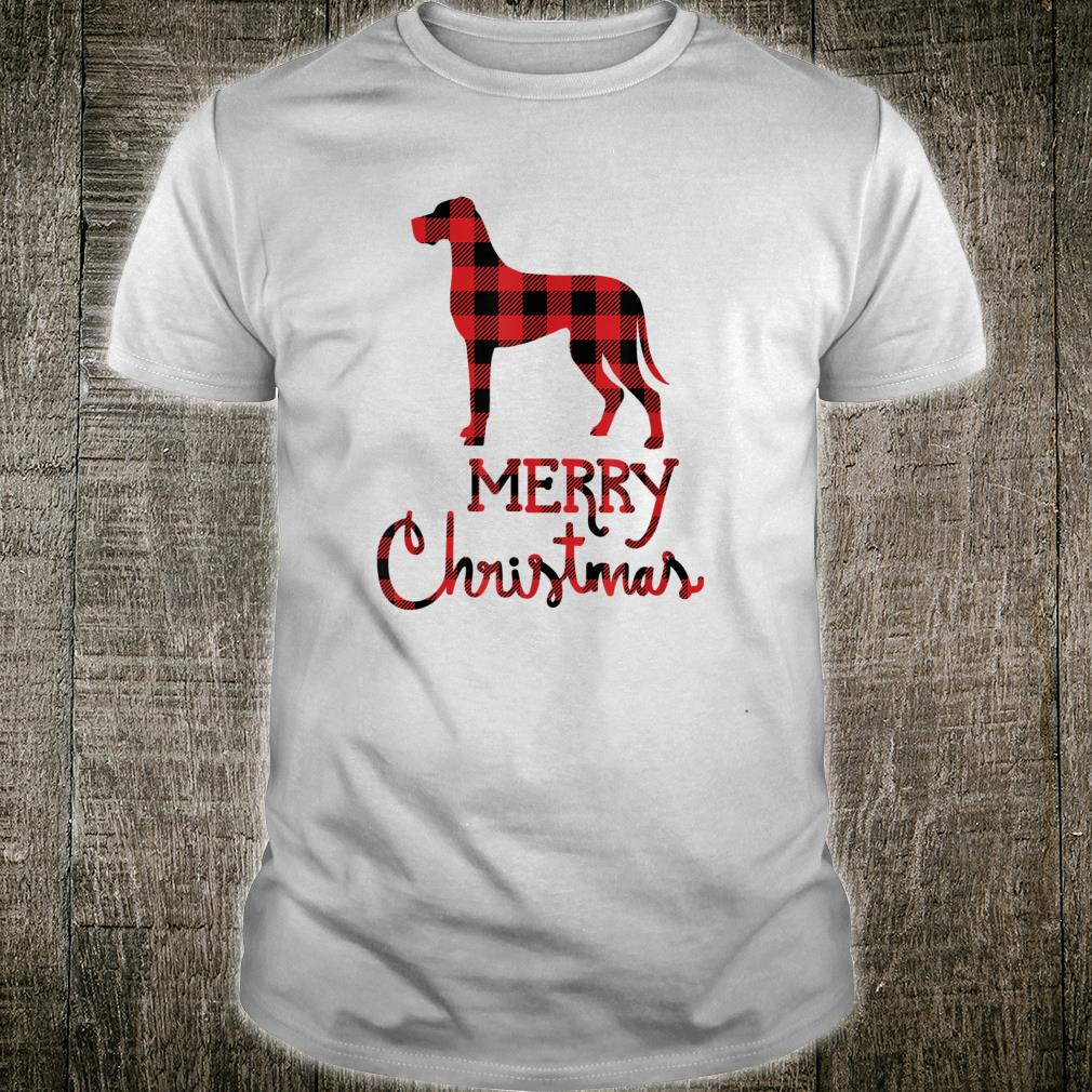 Merry Great Dane Christmas Red Plaid Shirt Dogs Shirt