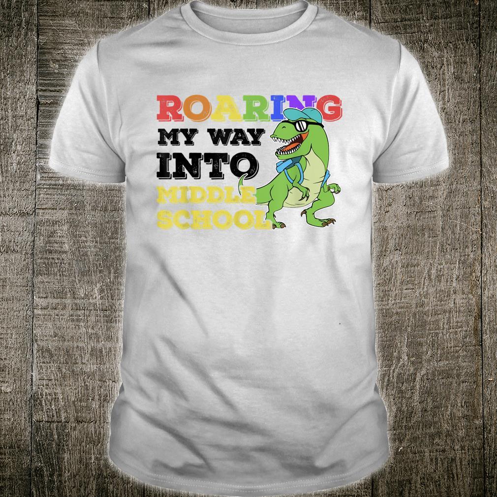 Middle School Dinos Boys Back to School Dinosaur Shirt