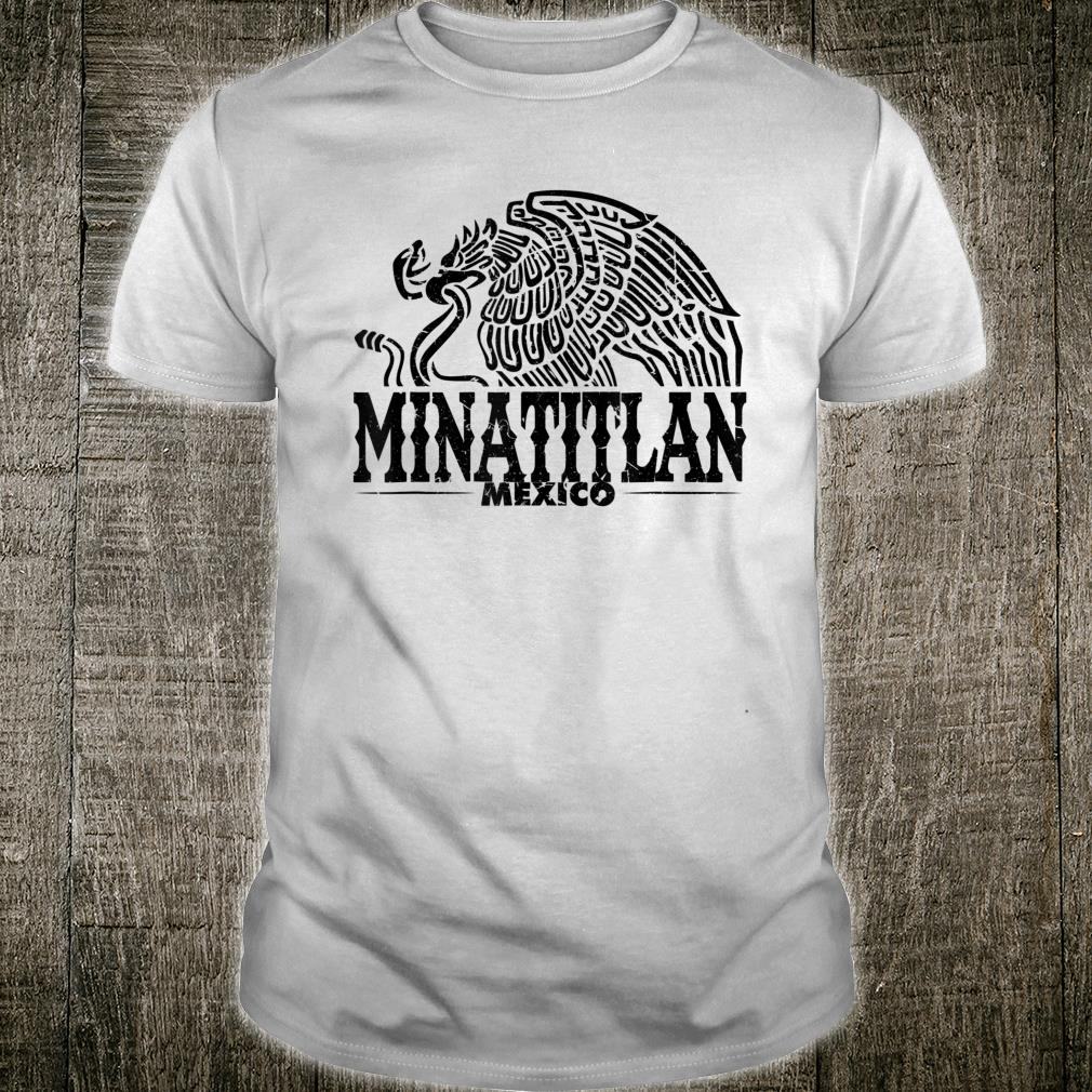 Minatitlán Mexico Eagle Vintage Retro Distressed Shirt