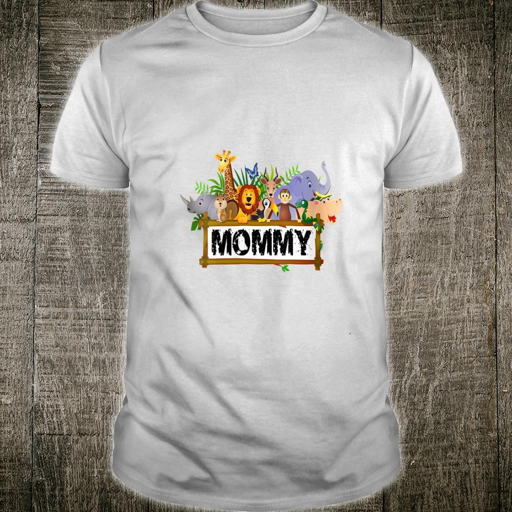 Mommy Zoo Birthday Shirt Family Costume Party Theme Shirt