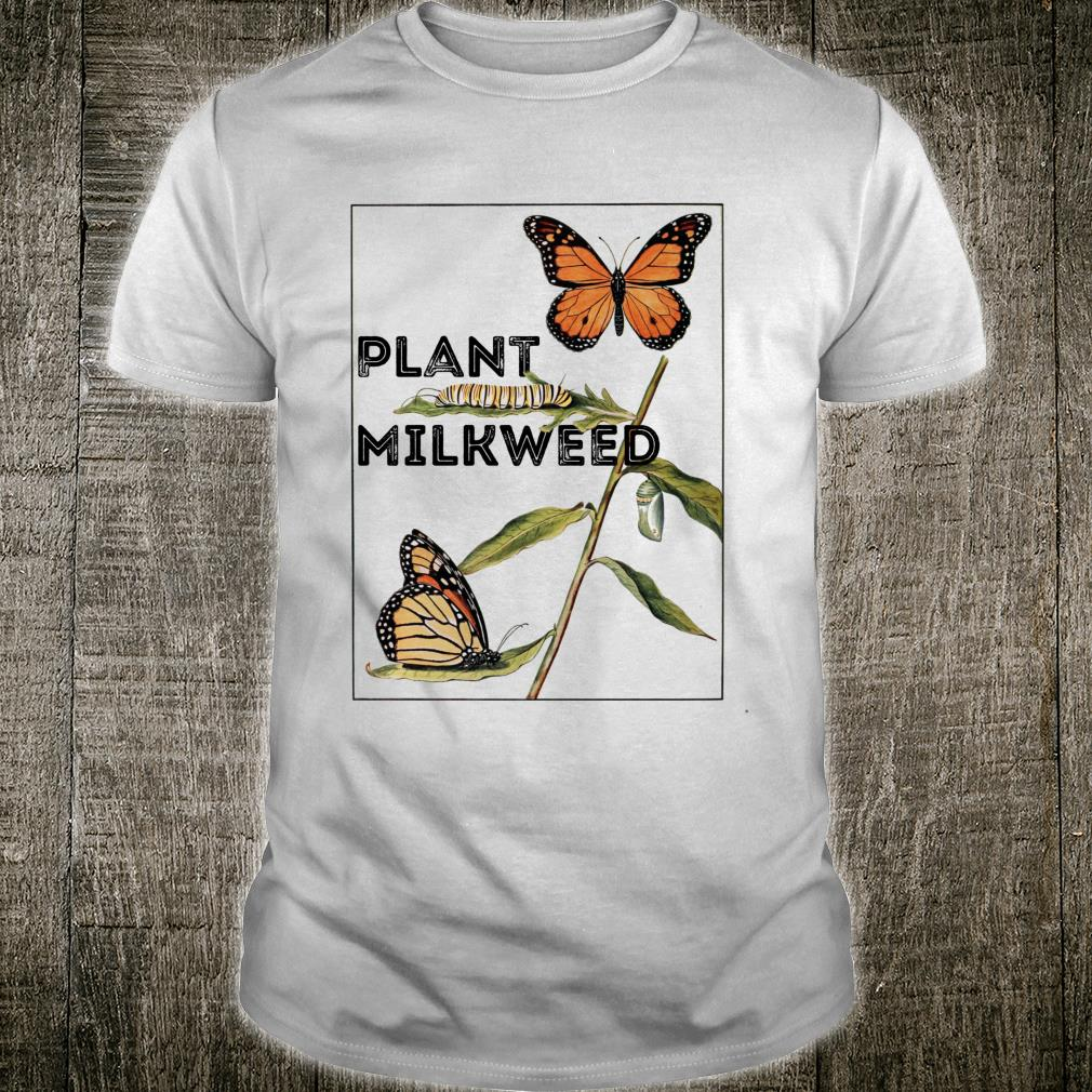 Monarch Butterfly Vintage Plant Milkweed Shirt