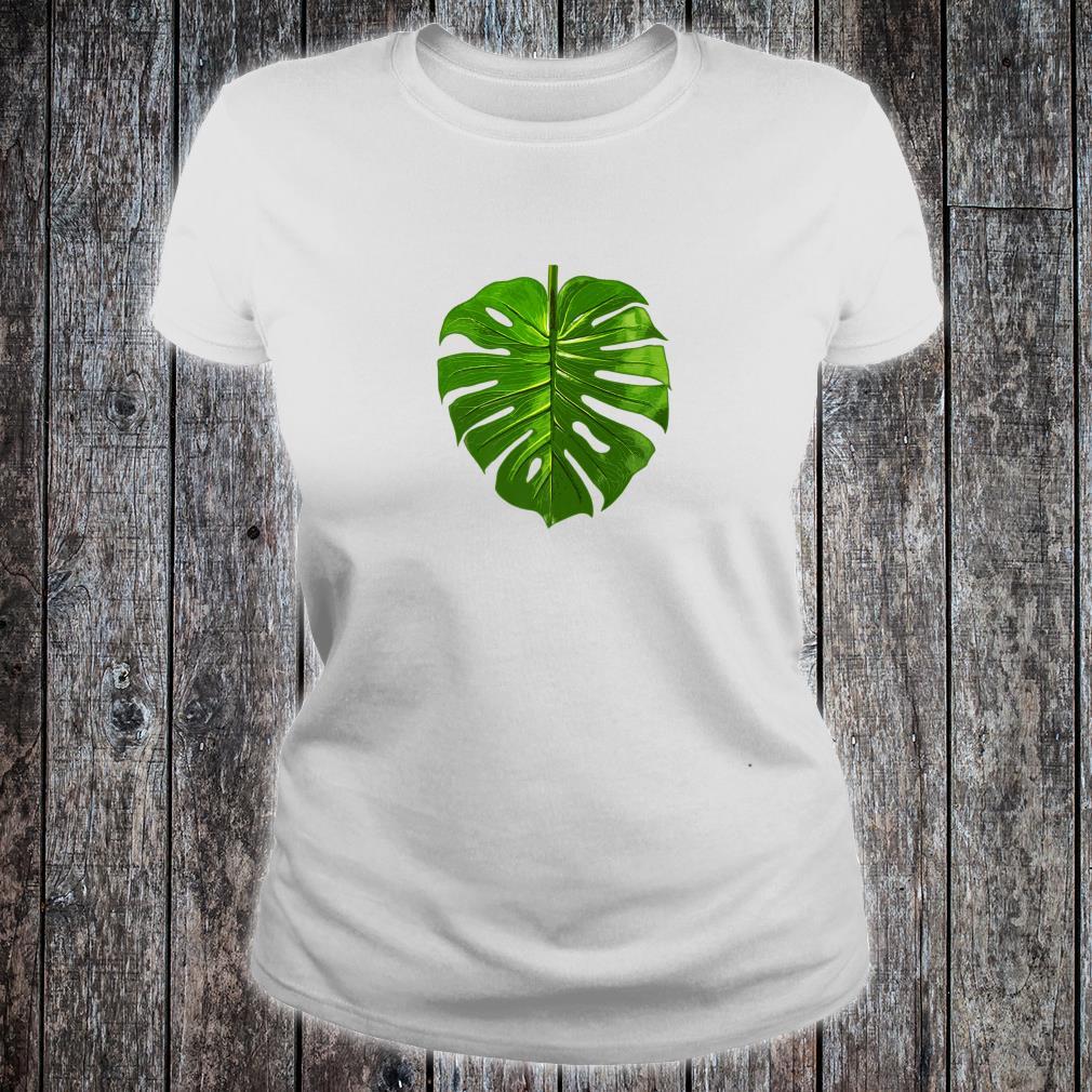 Monstera Palm Leaf Botany Plants gardening cute Shirt ladies tee