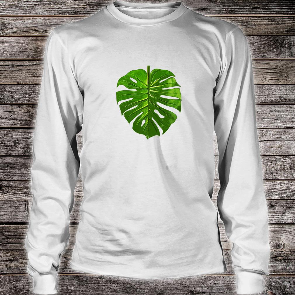 Monstera Palm Leaf Botany Plants gardening cute Shirt long sleeved