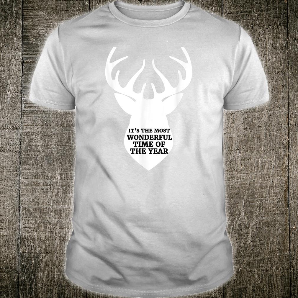 Most Wonderful Time of the Year Hunting Fall Autumn Deer Shirt