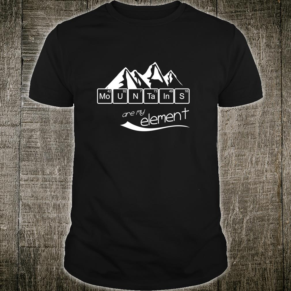 Mountains Are My Element Vintage Hiking Periodic Table Shirt
