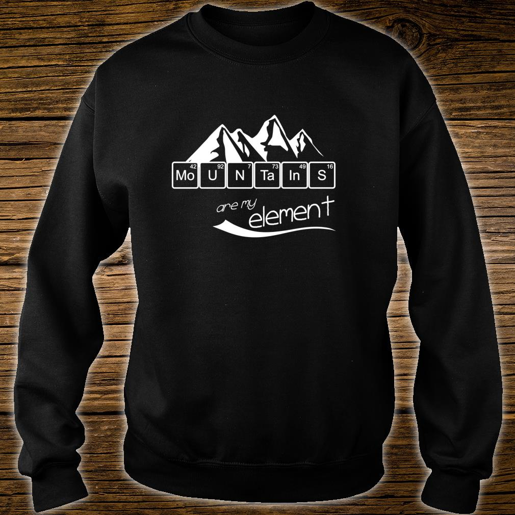 Mountains Are My Element Vintage Hiking Periodic Table Shirt sweater
