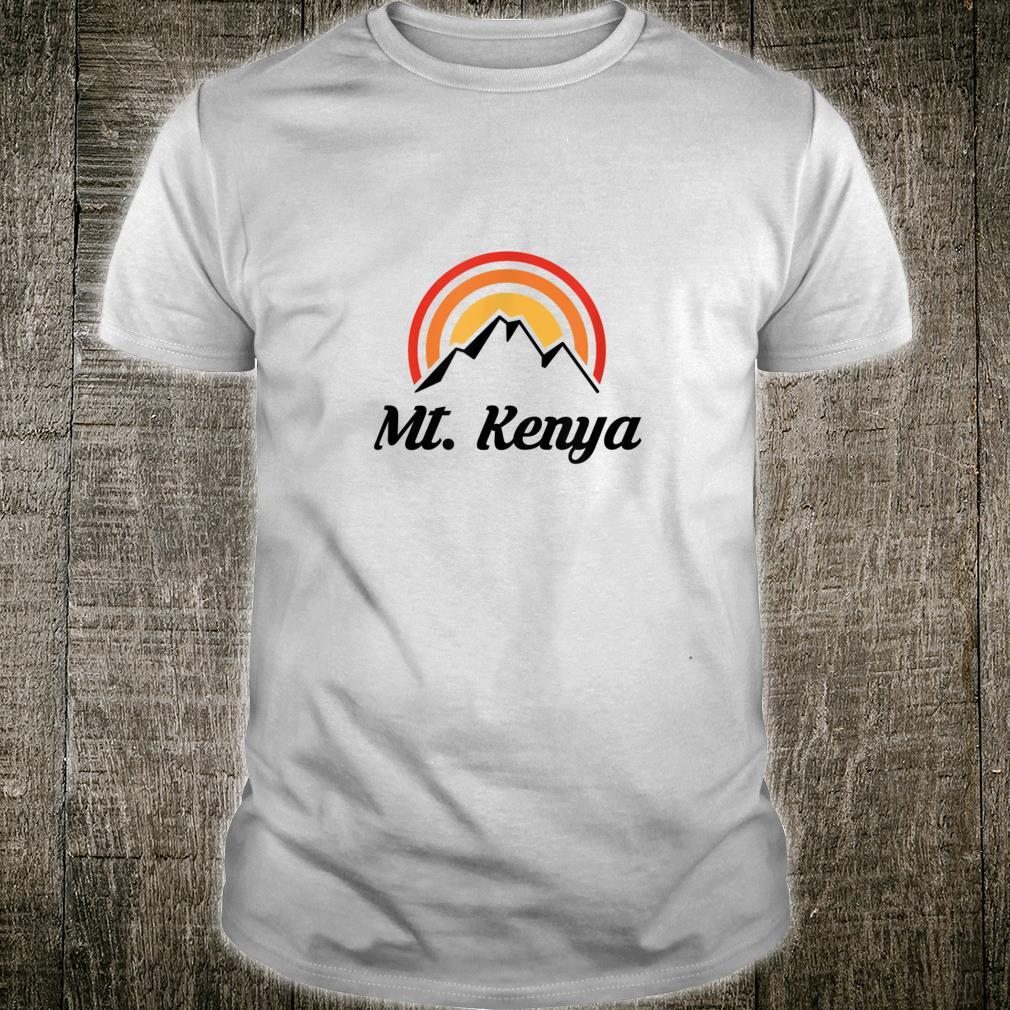 Mt Kenya Mountain Mtn Hiking Souvenir Tourist Shirt