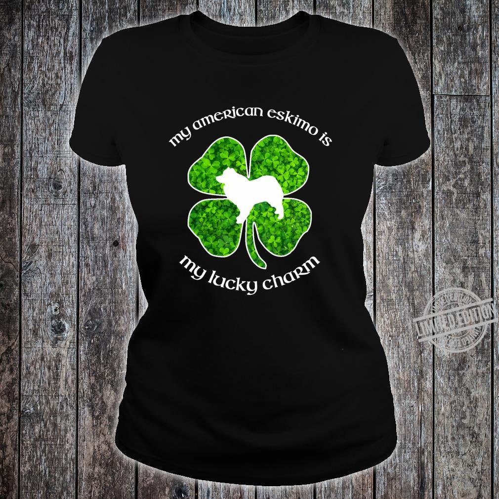 My American Eskimo Dog My Lucky Charm Green St Patrick's Day Shirt ladies tee