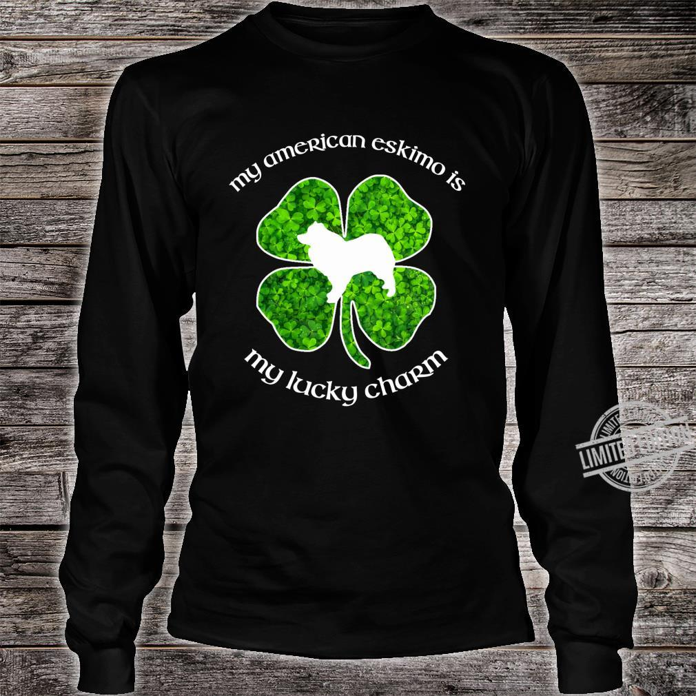 My American Eskimo Dog My Lucky Charm Green St Patrick's Day Shirt long sleeved