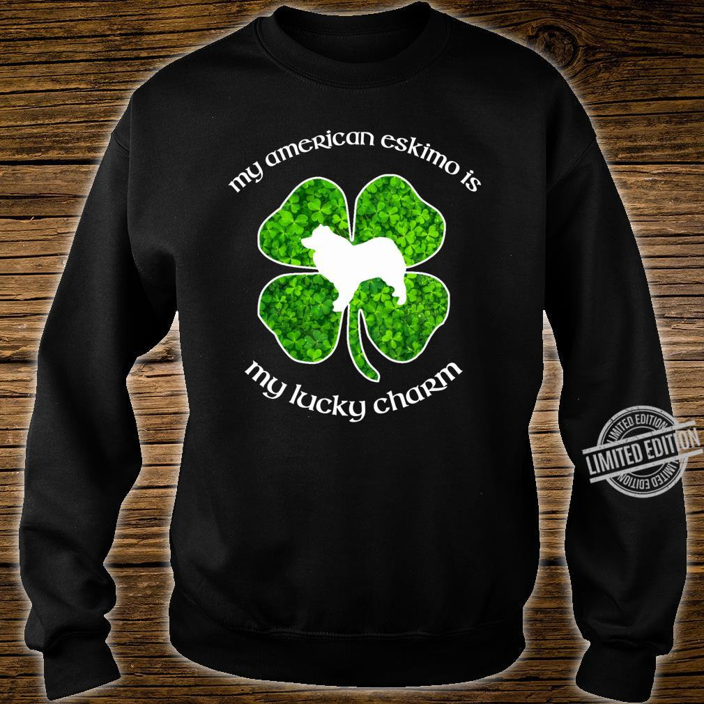 My American Eskimo Dog My Lucky Charm Green St Patrick's Day Shirt sweater