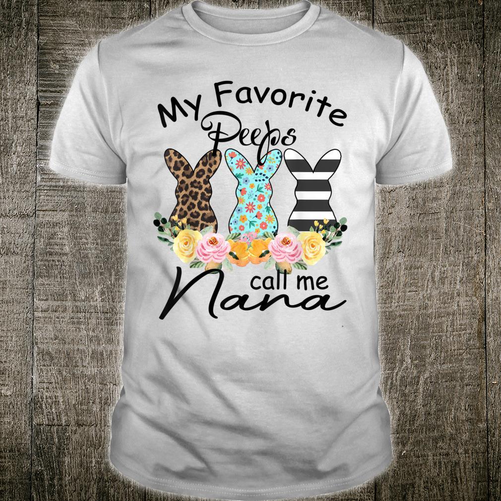 My Favorite Peeps Call Me Nana Leopard Bunny Rabbit Shirt