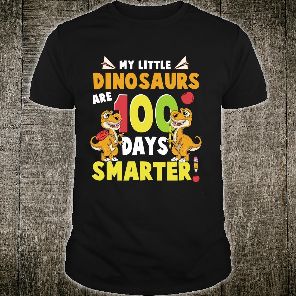 My Little Dinosaurs Are 100 Days Smarter Teachers Shirt