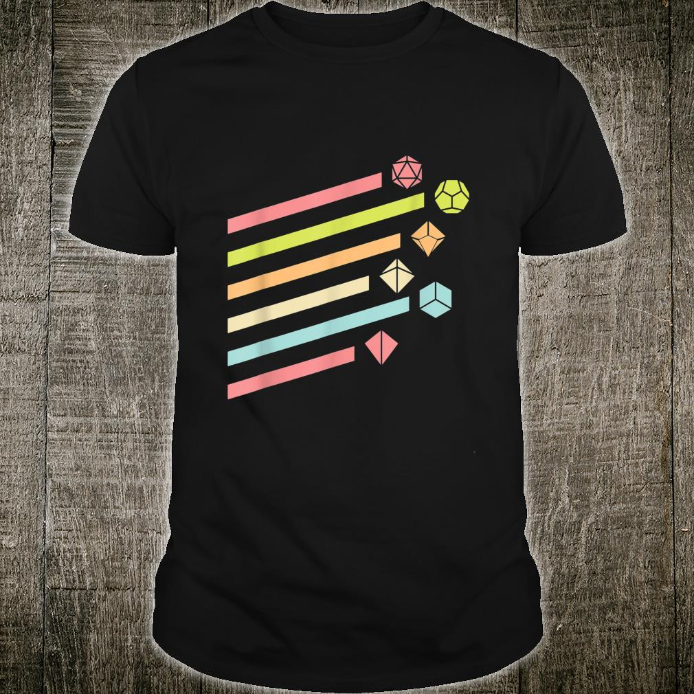 Nerdy Vintage Dice Set Shirt