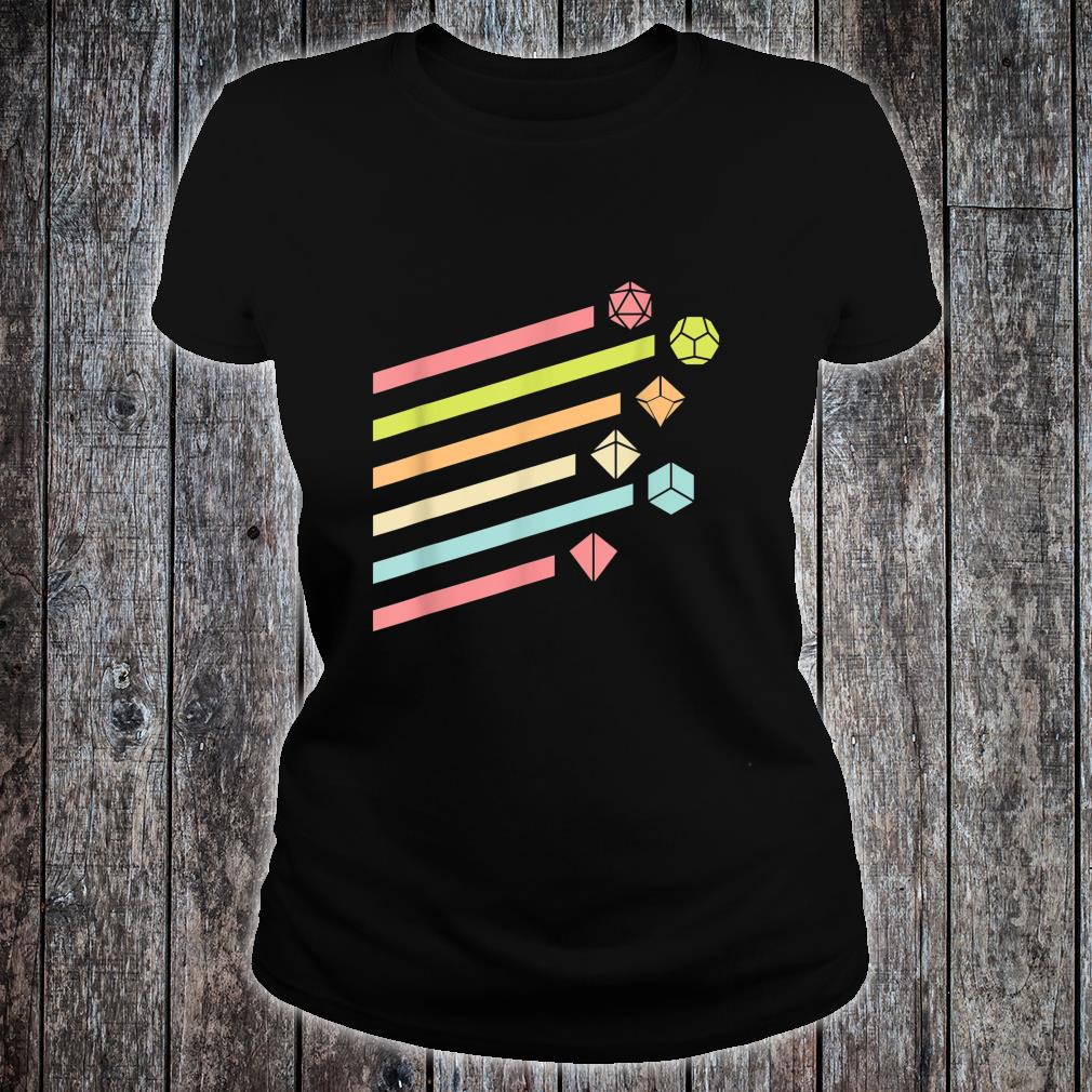 Nerdy Vintage Dice Set Shirt ladies tee
