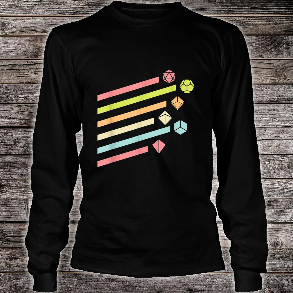 Nerdy Vintage Dice Set Shirt long sleeved