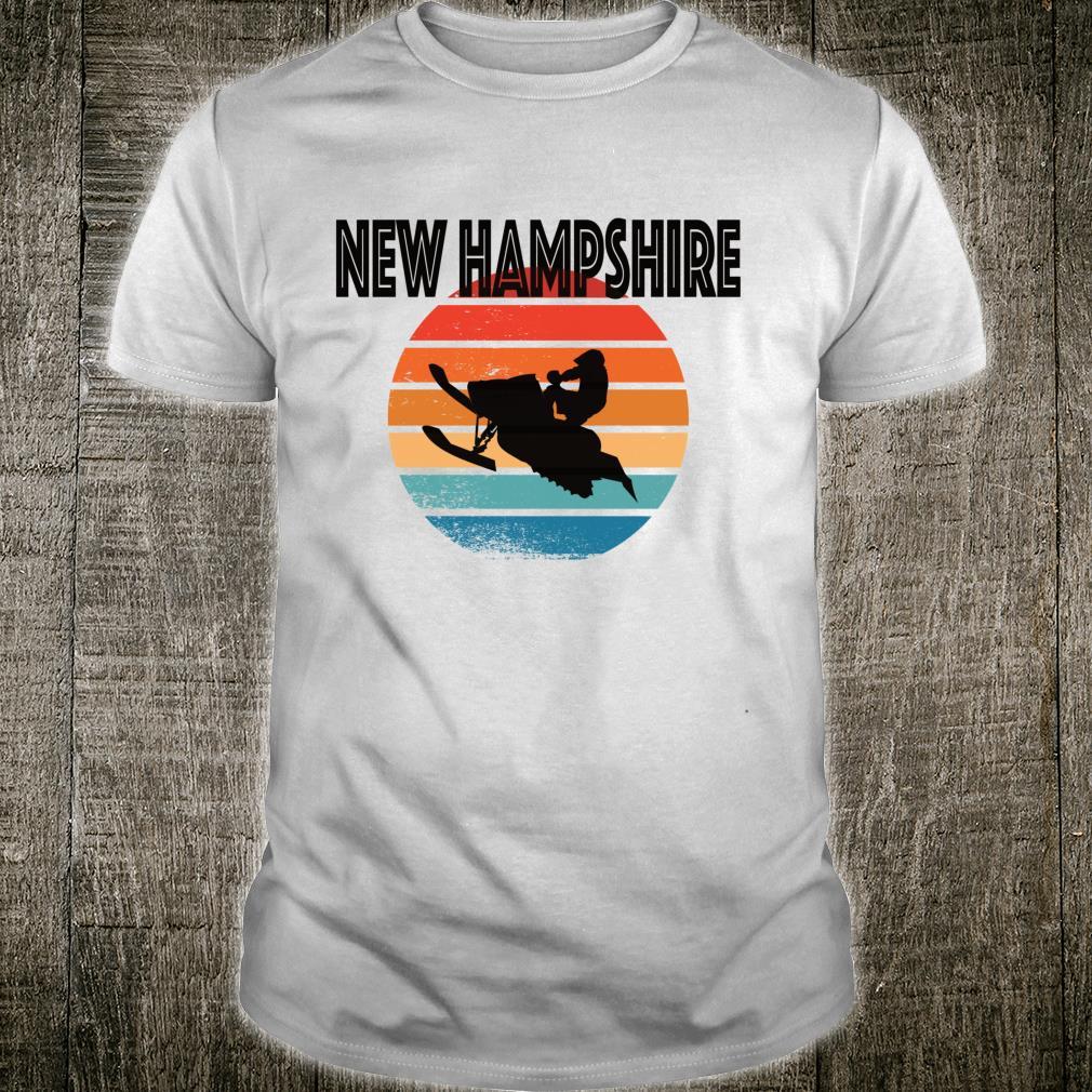 New Hampshire NH Vintage Retro Snowmobile Distressed Shirt