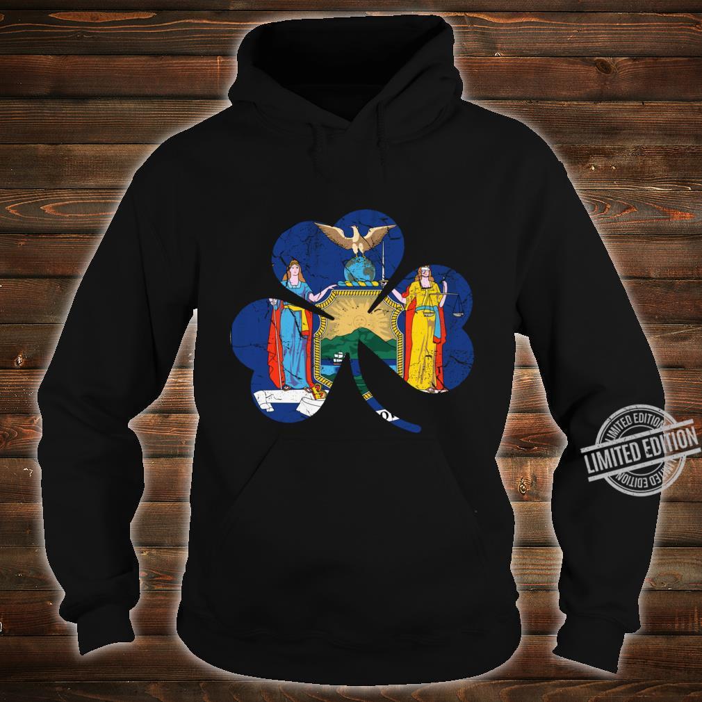 New York Flag Shamrock Irish St Patricks Day Shirt hoodie