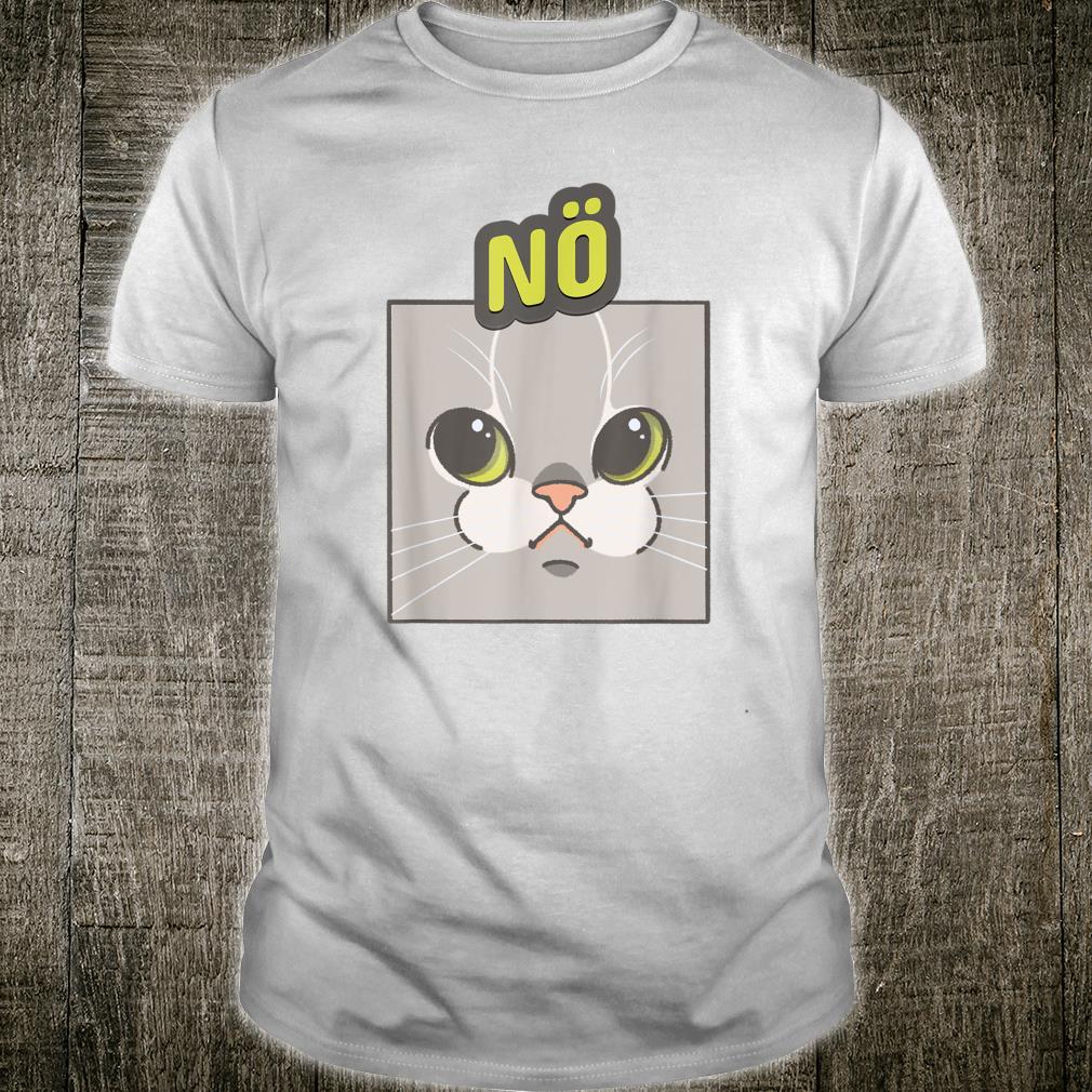 Niedliche Katze Nö Statement Katzenmama, Katzenpapa Shirt