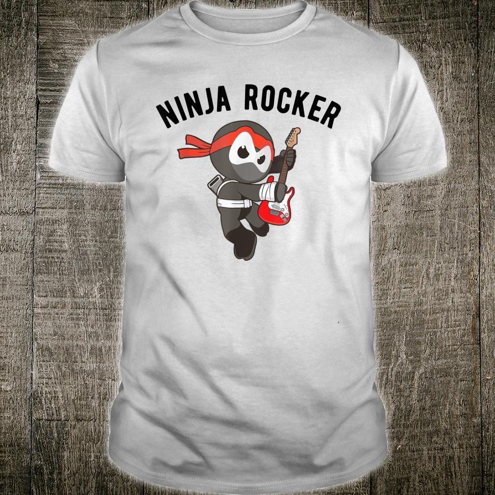 Ninja Rocker Shirt Rock N Roll Ninjutsu Guitar Apparel Shirt