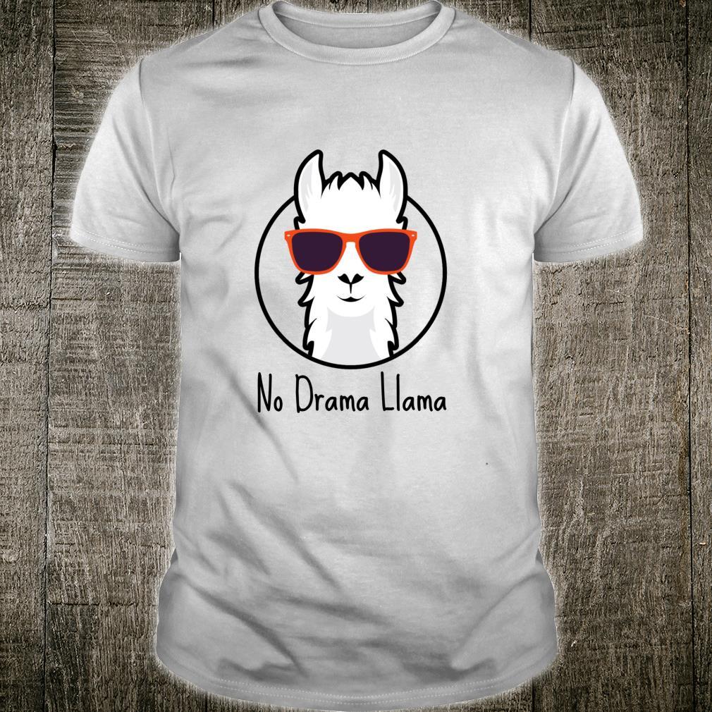 No Drama Llama, cool sunglass classic Llama Shirt