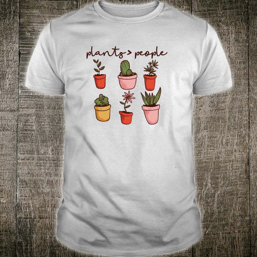 PLANTS PEOPLE Gardener's Potted Plant Gardening Meme Shirt