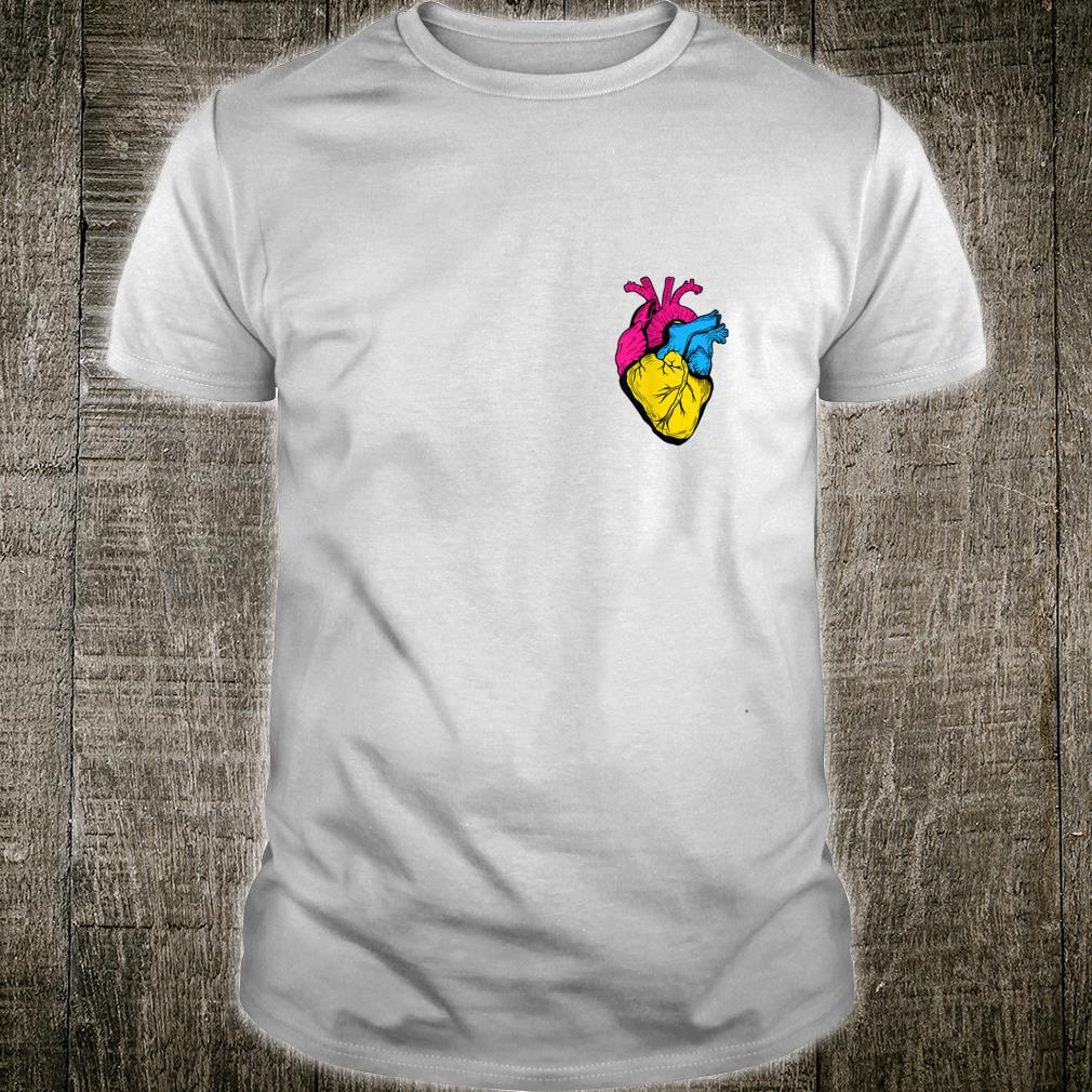Pan Pride LGBTQ RetroPansexuelles Herz Shirt